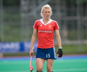 Alex Danson in England's warm up game against Australia prior to Investec World League