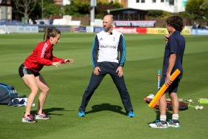 L to R Maddie Hinch, Matt Prior, Bruce French